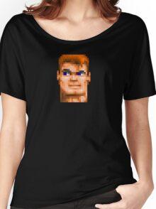 Wolfenstein 3D (Head) - Retro DOS game fan shirt HD pixels Women's Relaxed Fit T-Shirt