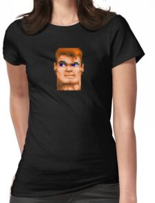 Wolfenstein 3D (Head) - Retro DOS game fan shirt HD pixels Womens Fitted T-Shirt