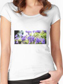 Purple Flowers Women's Fitted Scoop T-Shirt