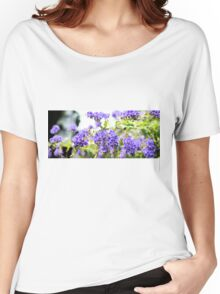 Purple Flowers Women's Relaxed Fit T-Shirt