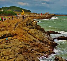 Cliff in Busan, South Korea by Fike2308