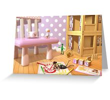 A Child's Playroom - Where The Toys Live Greeting Card