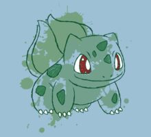 Bulbasaur Splatter Kids Clothes