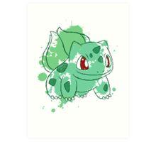 Bulbasaur Splatter Art Print
