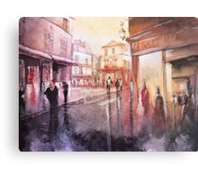 Watercolor - Sunset over Montmartre - Paris Metal Print