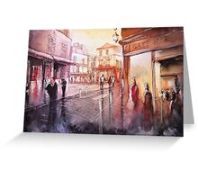 Watercolor - Sunset over Montmartre - Paris Greeting Card