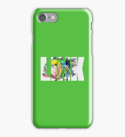 Toon Link Text (Green) iPhone Case/Skin