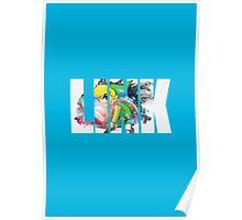 Toon Link Text (Light Blue) Poster