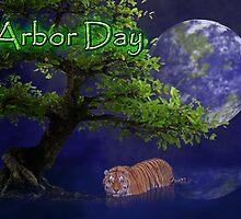 Arbor Day Tiger by jkartlife
