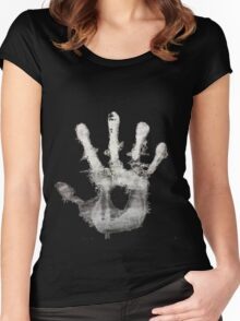 Orc Hand Print Women's Fitted Scoop T-Shirt