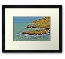 Stone & Water Framed Print