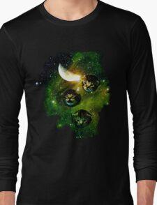three cosmic kittens Long Sleeve T-Shirt