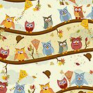 autumn owls  by Ancello