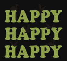 Green Digital Camo Happy Happy Happy One Piece - Short Sleeve