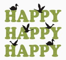 Green Digital Camo Happy Happy Happy by FireFoxxy