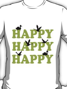 Green Digital Camo Happy Happy Happy T-Shirt