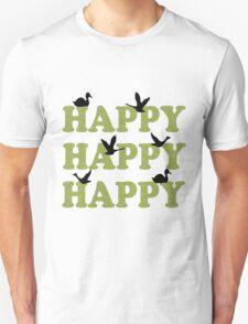 Green Digital Camo Happy Happy Happy T-Shirt
