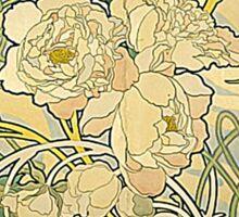 Mucha - Flowers Sticker