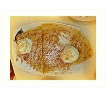 Delicious Crepes - Mouthwatering lunch Art Print