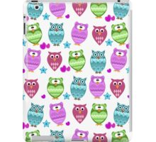 funny owls  iPad Case/Skin