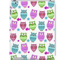 funny owls  iPad Case/Skin