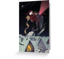 Santa's Hog Greeting Card