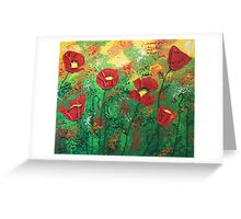 Red Poppy Bonanza Greeting Card