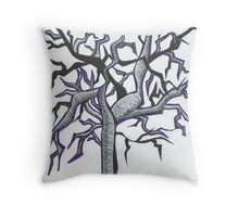 Twisted Old Tree Throw Pillow
