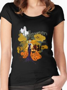 Halloween is here Women's Fitted Scoop T-Shirt