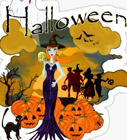 Halloween is here Sticker