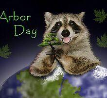Arbor Day Raccoon by jkartlife