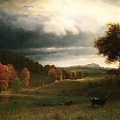 Bierstadt Albert Autumn landscape the Catskills.  by naturematters