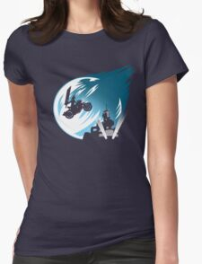 Meteor Over Midgar Womens Fitted T-Shirt
