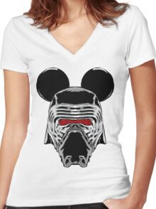 Kylo Mouse Women's Fitted V-Neck T-Shirt