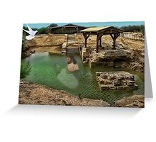 ▂ ▃ ▅ ▆ █ THE SUPPOSED LOCATION WHERE JOHN BAPTIZED JESUS CHRIST EAST OF THE RIVER JORDAN █ ▆ ▅ ▃ Greeting Card
