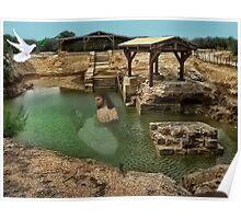 ▂ ▃ ▅ ▆ █ THE SUPPOSED LOCATION WHERE JOHN BAPTIZED JESUS CHRIST EAST OF THE RIVER JORDAN █ ▆ ▅ ▃ Poster
