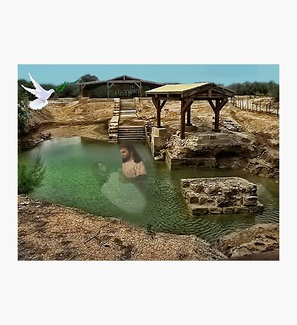 ▂ ▃ ▅ ▆ █ THE SUPPOSED LOCATION WHERE JOHN BAPTIZED JESUS CHRIST EAST OF THE RIVER JORDAN █ ▆ ▅ ▃ Photographic Print
