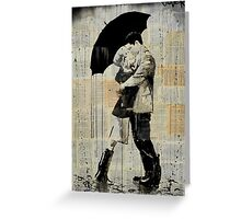 the black umbrella Greeting Card