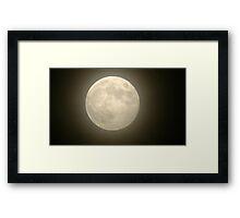 Hazy Moon Framed Print