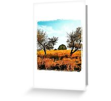 Two Apple Trees & One Barn Greeting Card