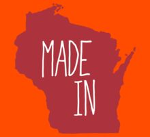 Made in Wisconsin - Red Kids Tee