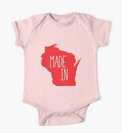Made in Wisconsin - Red One Piece - Short Sleeve