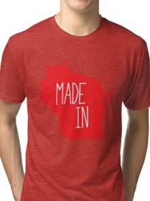 Made in Wisconsin - Red Tri-blend T-Shirt