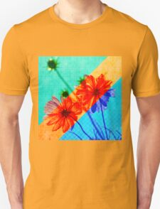 Psychedelic Collage Otherworldly Cosmos Flowers Unisex T-Shirt