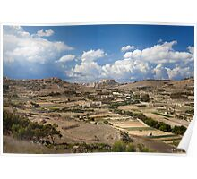 Gozo countryside in colour Poster