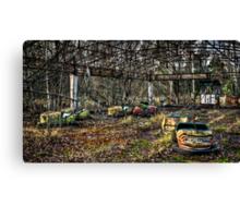 Abandoned Bumper Cars Prypiat/Chernobyl Canvas Print