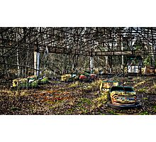 Abandoned Bumper Cars Prypiat/Chernobyl Photographic Print
