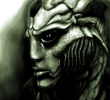 Thane Krios: Mass Effect Fan Art by PandorasEncore