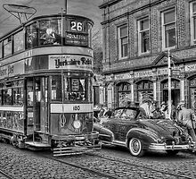 Middleton Tram - Black and White by © Steve H Clark