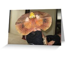 Frill Necked Lizard Greeting Card